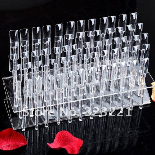 HOT Selling 64 Stick Display Stand Rack Practice Tool Nail Art Tips + - Blingway Care products Co., Ltd. store