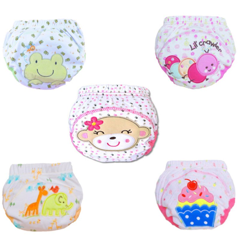 Cute Kids Nappy Cotton Underwear Training Pants Toilet Potty Baby Cloth Diaper Cover L07(China (Mainland))
