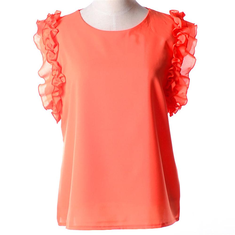 Summer hot new style women blouse feminina camisa chiffon for Ladies shirts and tops blouses