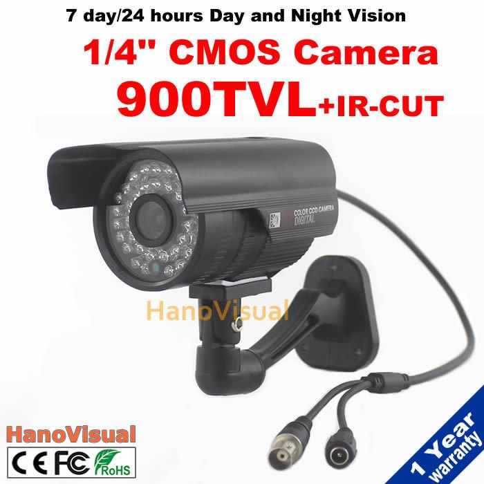 Outdoor IRCUT Filter Home Security Surveillance Camera Waterproof Night Vision 900TVL CMOS Sensor CCTV Caemra Color Image IR  <br><br>Aliexpress