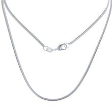 Мода Высокое качество 925 Серебряное ожерелье для женщин дамы ювелирные изделия стерлингового серебра SH15 оптовая продажа(China)