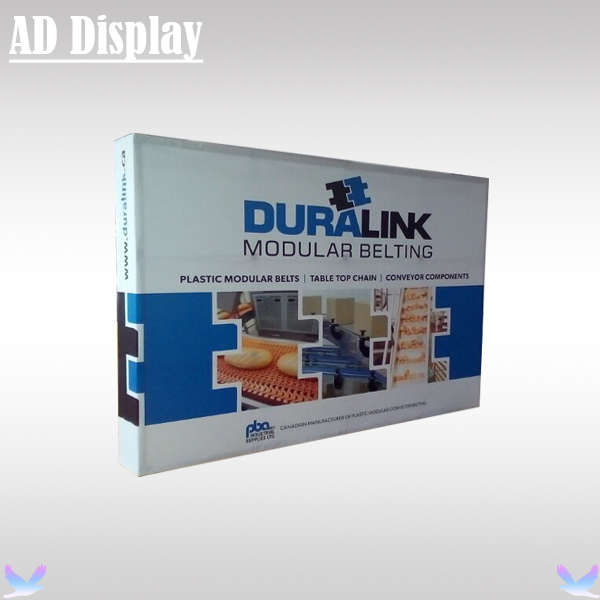 10ft Straight Exhibition Fabric Banner Pop Up Back Wall Display With Single Side Stretch Graphic Printing (Include End Cap)(China (Mainland))