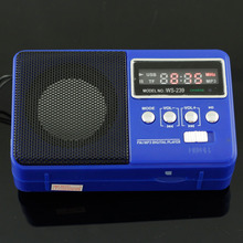 Portable Stereo Speaker Clip Amplifier FM Radio USB Disk Micro SD TF Card MP3 Player Blue  free shipping