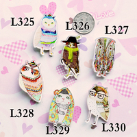 Nice Acrylic Badge Broche HARAJUKU Brooch Accessories Owl Brooches for Scarf Pin Up Women Bag Collar Tips Punk Jewelry
