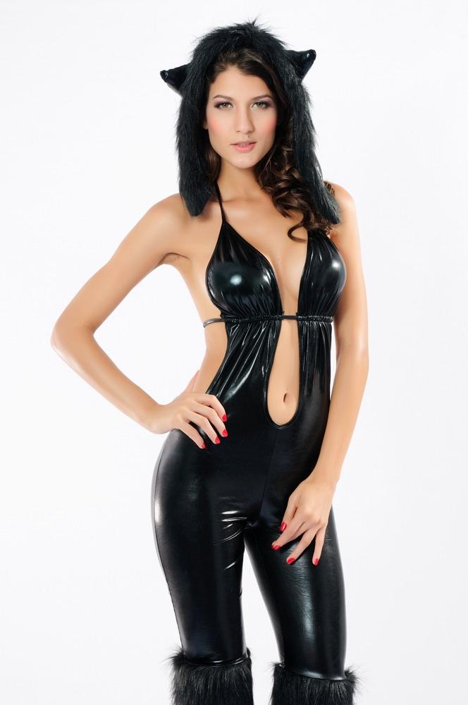 Black cat babe sexy costume
