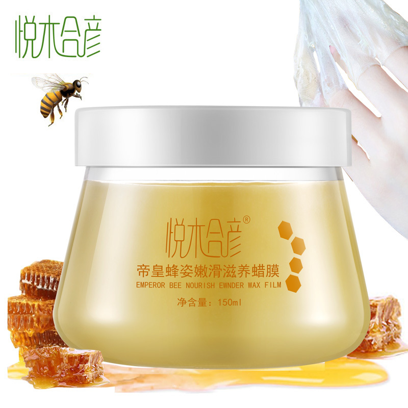 White Tender Emperor Bee Nourish Hand Wax Film Cream Fade Out Fine Lines Exfoliating Anti-Aging Whitening Cream Beauty Hand Care(China (Mainland))