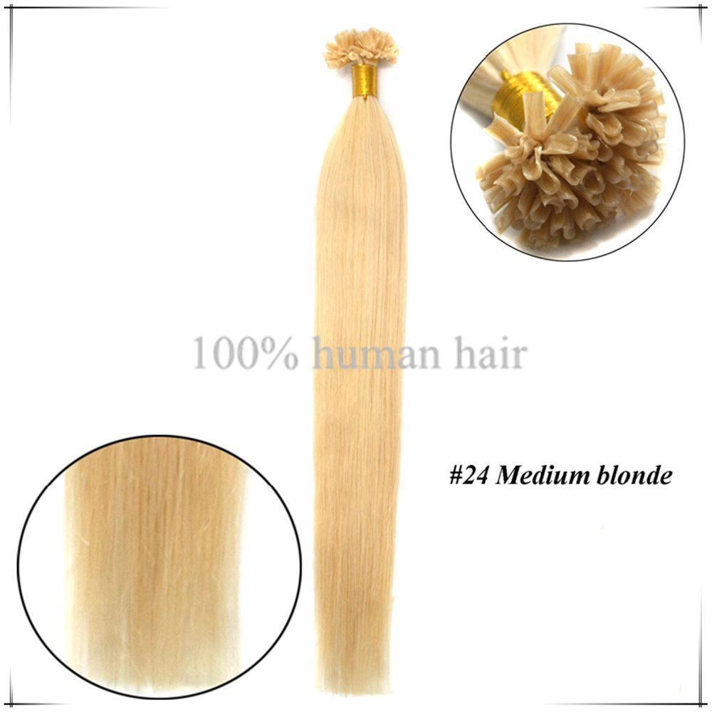 Wholesale Straight  Brazilian Human Pre Bonded Hair Extension 22Inch/55cm 0.5g/s U Tip Hair Extensiones De Cabello Superior