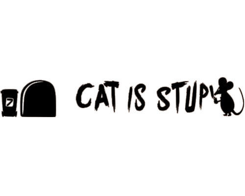 MOUSE GRAFFITI WRITER funny wall decal CAT IS STUPID stickers Instrumen Art Decor Decal Quote Sticker Mural Inspiration(China (Mainland))