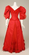 Gothic Red Long Victorian Stage Dress