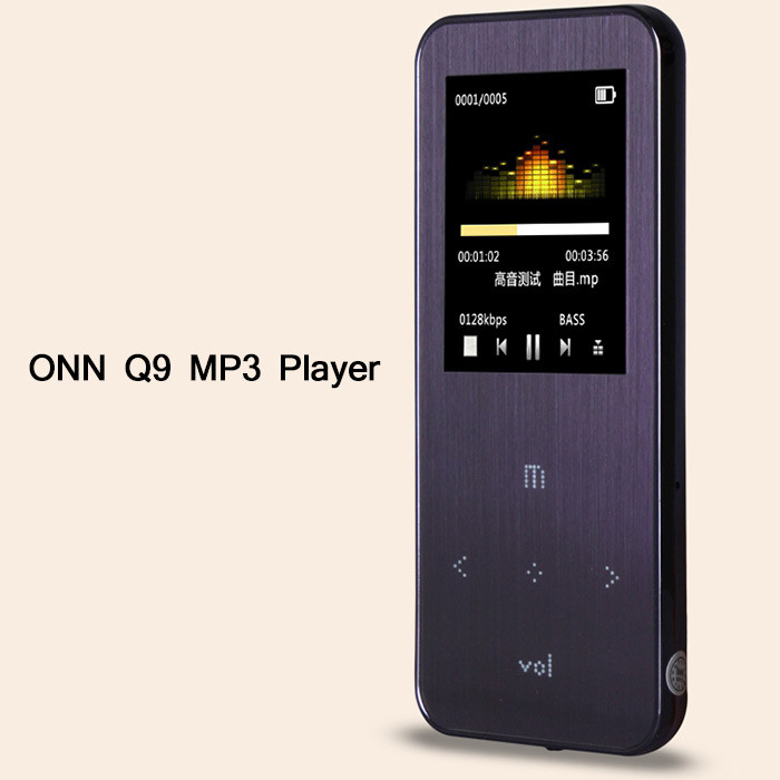 2016 New Original 8GB 1.8 inch ONN Q9 Metal Mini Sport MP3 Player With FM Radio Music MP3 Player Support 1-32GB Micro TF/SD Card