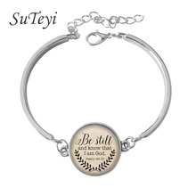 Buy SUTEYI 2017 Christian jewelry Jesus bracelet silver chain bracelet Faith Bible grace Amazing soft around jewelry for $1.09 in AliExpress store