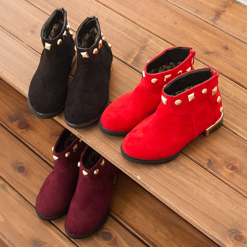 2015 Special Offer Limited Ankle Children Shoes Korean Men And Women Shoes Rivets Boots Soft Bottom Baby Low To Help Cotton(China (Mainland))