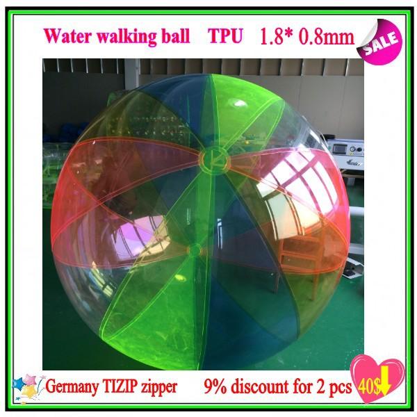 Popular Water Walk ball CK-02 pool TPU1.8M *0.8MM inflatable ball multi-function with Germany TIZIP zipper(China (Mainland))