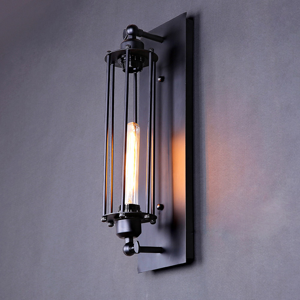 Black Industrial Wall Sconces : Personalized Vintage Wall Light Novelty Test Tube Design Iron Black Sconce E27 Industrial Wall ...