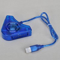 8pcs 2-Port Dual USB Game Converter Adapter for Sony PS2 Controller to PC Computer