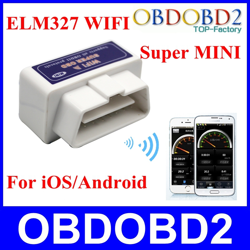 ELM327 Interface WIFI Connection V1.5 ELM 327 Wireless Supports All OBDII Protocols WIFI iOS/Android System Free Shipping(China (Mainland))
