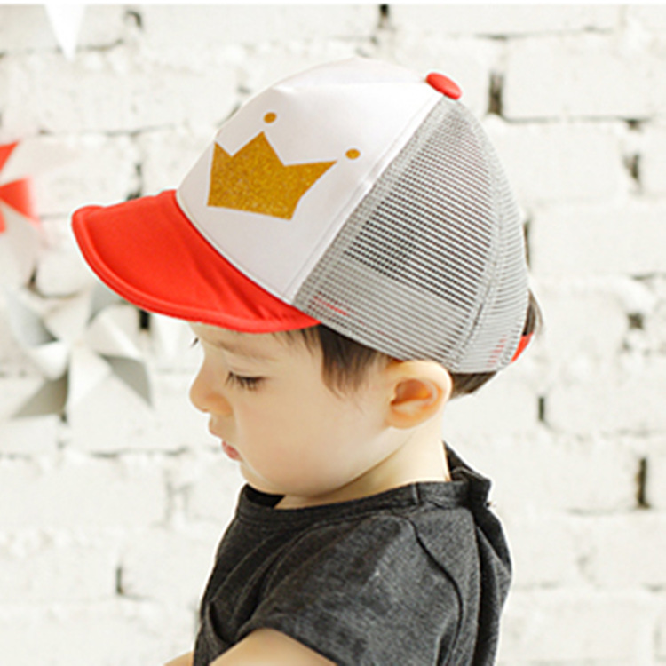 Hot Sale New 2015 Summer Baby Sun Hat Baseball Snapback Hats Letter Pattern Cotton Mesh Peaked Cap For Boys Girls(China (Mainland))