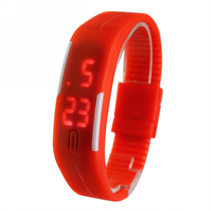 Sports Bracelet LED Watch 2016 Sport Fashion Digital Date Time Men Wristwatch Waterproof Colorful Rubber Band - Perfect Monment Company Limited store