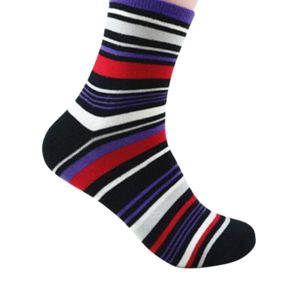 1 пара горячие мужчины мода платье носки свободного покроя хлопок полосатые носки 4 цветов
