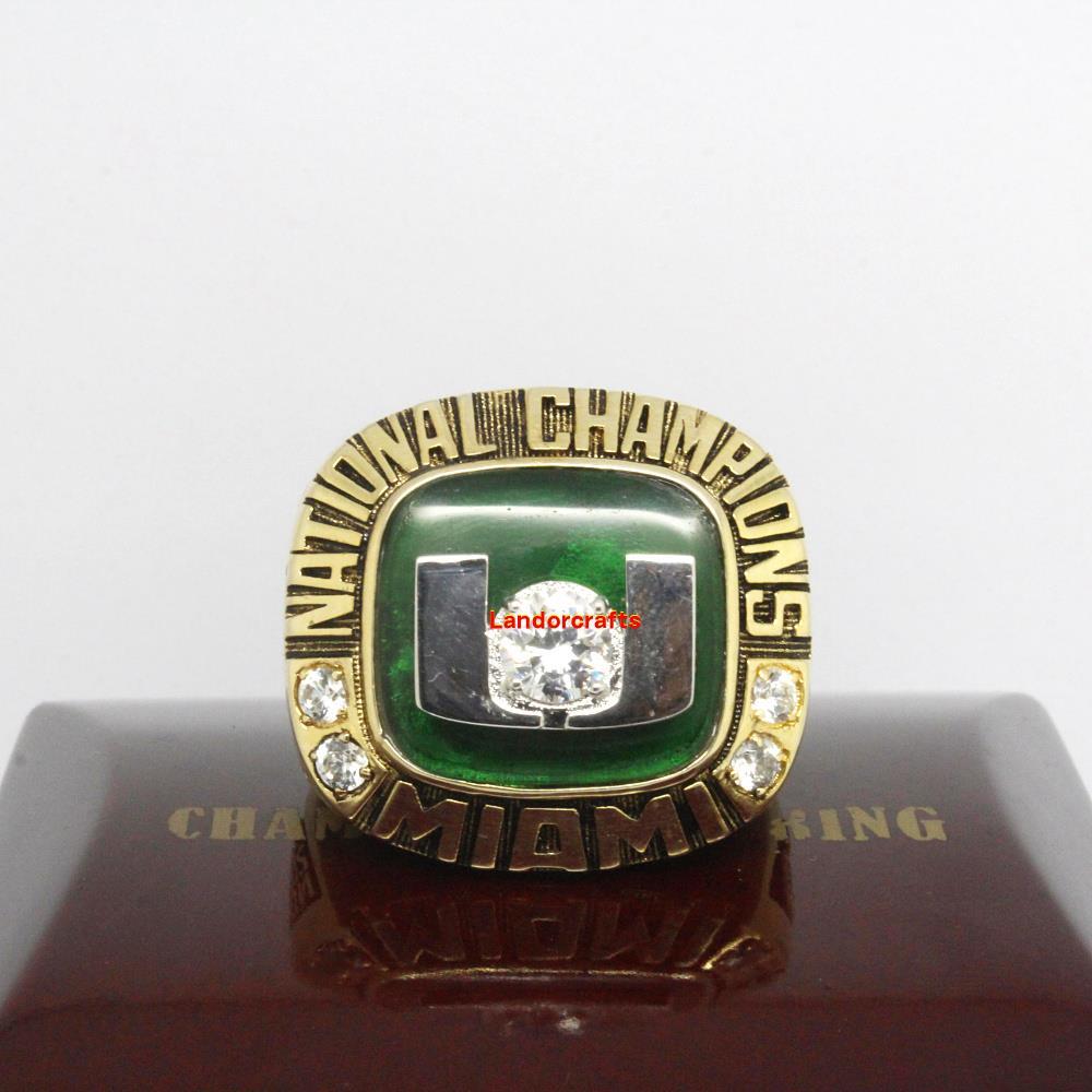 2001 Miami Hurricanes Rose Bowl ncaa college football National Championship Rings(China (Mainland))
