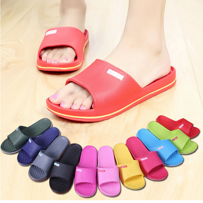 product New Brand 2015 Women zuecos goma Flip Flop Men's Sandals Sapatos femininos scarpin Massage Slippers PVC Rubber Shoes Lady Beach