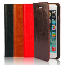 Hot Selling! New Crazy Horse grain leather Phone Cases for Apple iphone 6 4.7 inch Wallet Flip protective housing for iphone6