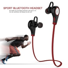 20pcs/lot Bluetooth Headset Wireless Stereo Sport Running Earphone With Microphone Case Five Colors by DHL Q9