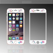 """Hot Sale Rushed Fashion Nanometer Film Anti-knock Cute Cartoon """"hello,kitty"""" Pink Girl Screen Protector For Iphones 6 6s 6plus"""