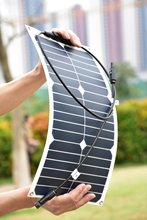18w semi-flexible solar panel provide for 12v battery  with flexible high efficiency USA solar cell solar module(China (Mainland))