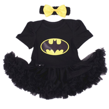 Newborn Baby girls clothes Infant Jumpsuit Halloween Romper Dress Cotton Black Bat Girls Clothing dress+headband 2pcs/sets