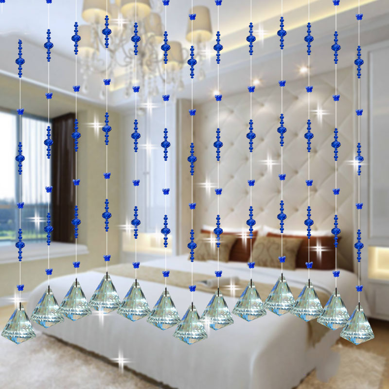 Buy crystal glass beads rope curtain home for Crystal decorations for home