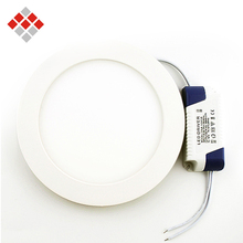 Round LED Panel Light 3W / 6W / 9W / 12W / 15W Slim Ultra Thin Design Ceiling Recessed Downlight for Kitchen Bathroom(China (Mainland))