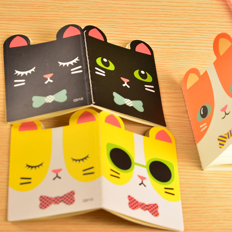 6pcs/lot Super Kawaii Animals Booklet Cute Cat Notepad Memo Soft Copybook Study Thin Notebook For Student Portable Stationery WZ(China (Mainland))