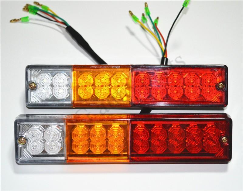 5pairs lot 20 LED ATV Trailer Truck LED Tail Light Lamps Car Rear Lights Taillight Reversing