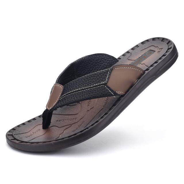 Summer Sandals Men Summer Shoes Brand Flip Flops Men Sandals Flats Open Toe Beach Slippers For Men ZNPNXN