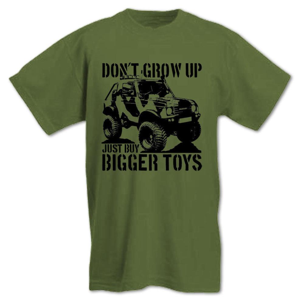 Don't Grow Up Just Buy Bigger Toys Fun Samurai 4X4 Off Road Summer Motorcycle jacket Sports Mens T Shirt bike(China (Mainland))