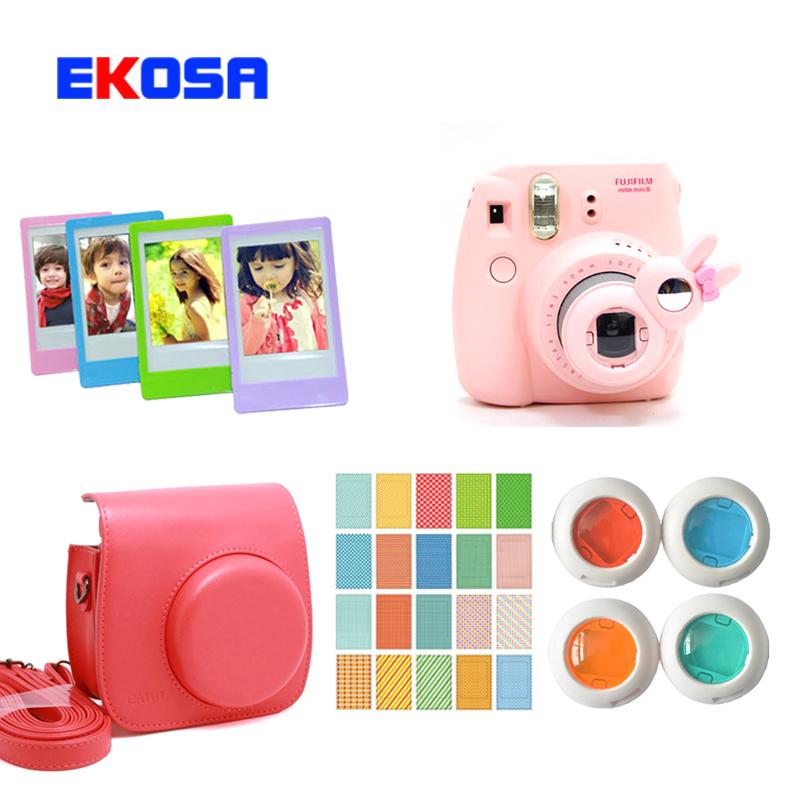 Fujifilm Fuji Instax Mini 8 Camera Bag + Rabbit Close-up Lens + Colorful Filter + 20 Sheets Photo Stickers + 5 Pcs Photo Frame(China (Mainland))