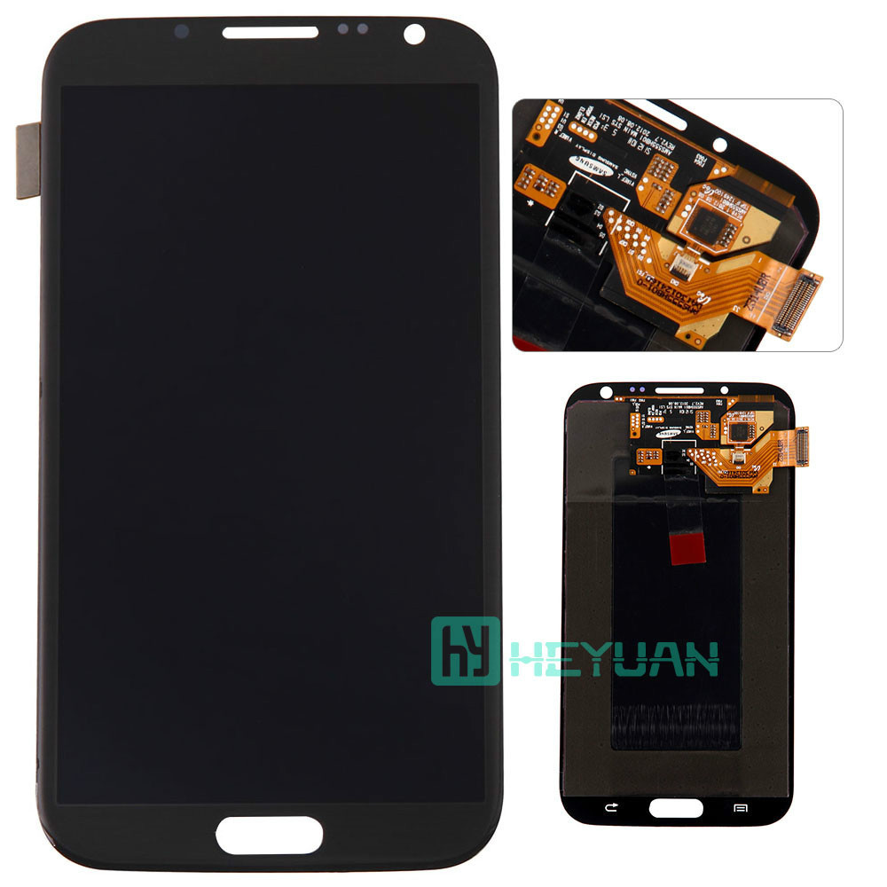 Wholesale 100% Original For Samsung Galaxy Note 2 N7100/n7105 Lcd Display Touch Screen Digitizer Black Mobile Phone Spare Parts(China (Mainland))