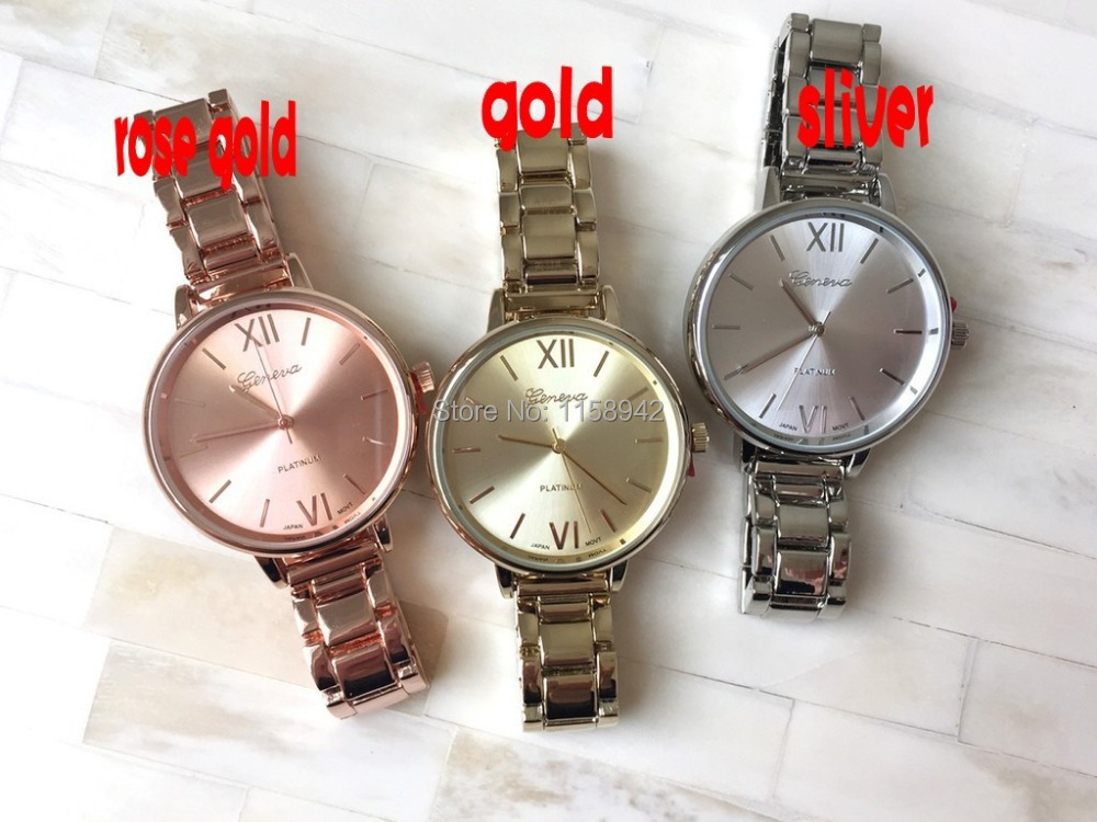 free shipping dhl 50pcs Geneva Watches Ladies Quartz watches Casual Wristwatch Steel Case Women Dress Watch Analog New <br>