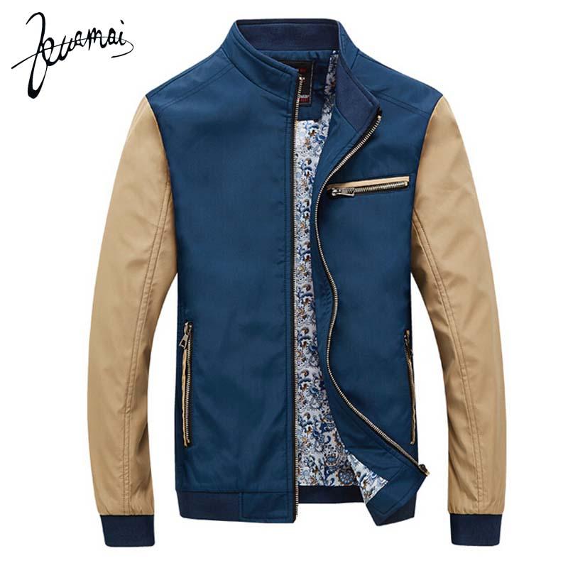 KUAMAI 2016 New Autumn Brand Clothing Jacket Men Stand Collar Stitching Casual Jackets Fashion Coat For Men Plus Size 3XL(China (Mainland))