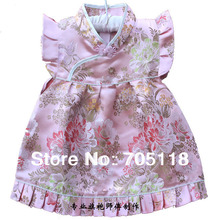 Cheongsam for little baby cute cotton polyester embroidery patchwork floral clothing(China (Mainland))