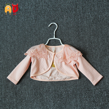 AD 4-24M Elegant Baby Cardigan Lace Shoulder Dots Baby Girls Jacket Toddler Kids Children's Coats Summer Style Clothing Clothes