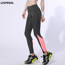 LASPERAL Women Sports Legging For Jogging Bodybuilding Polyester Pants High Elasticity Gym Patchwork Fitness Women Pants M/L,1PC(China (Mainland))