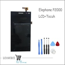 Original For Elephone P2000 P2000c LCD Display Screen+Touch Digitizer Sensors Full Assembly Black Replacement Parts