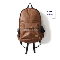 BOY'S Bag PU leather  laptop Backpack Japanese Style Dubble Shoulder School Backpacks Three Box TBK-111