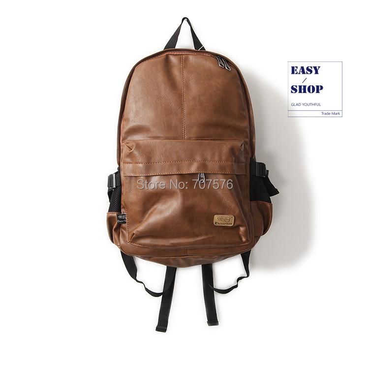 BOY'S Bag PU leather laptop Backpack Japanese Style Dubble Shoulder School Backpacks Three Box TBK-111(China (Mainland))