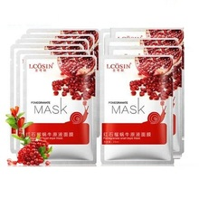 2015new caini face care snail hyaluronic acid facial mask 6pcs/ lot spring and summer whitening moisturizing astringe pores acne