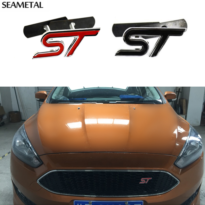 Front Grill Grille Emblem Metal Stickers Decoration Brand For Ford Mustang Sportrac Edge F-150 Auto Accessories Car Styling(China (Mainland))