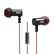 Hot KZ ED9 In-ear Earphone Bass Earbuds Noise Canceling Earbuds Stereo Metal HiFi Headset Original KZ Earphones With Microphone(China (Mainland))