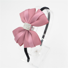 Buy Women Girls lady Fashion Bow diamond Headband Hairband bowknot silk Elegant Hair Bands Holder Hoop headwear hair accessories for $1.43 in AliExpress store